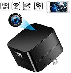 Spy Camera Wireless Hidden Cameras Charger Nanny Cam USB Wall Adapter HD WiFi Mini Cams Plug for Home Security Motion Detection Remote View on Phone APP Improvement Improvement Tools Tools Improvement Fixtures Fixtures Showers Showerheads Improvement Too Wireless Spy Camera, Hidden Spy Camera, Nanny Cam, Technology Gifts, Remote Viewing, Spy Gadgets, Home Security Systems, Security Camera, Hd 1080p
