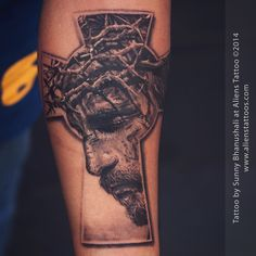 #lord #jesus #tattoo by #sunnybhanushali at #alienstattoo #mumbai. There is a strange story behind this tattoo. I was fully booked for the last week of Dec 2014, on Christmas Eve I was discussing with my wife that I want to work on Jesus Christ #realistic tattoo before this year ends, Right then I gotta message from my friend, who is my client too, for the same tattoo which I sketched on the same eve. He requested exact theme the way I had sketched it. I witnessed the fastest manifestation…