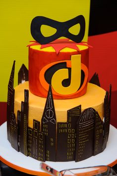 Amazing cake at an Incredibles Birthday Party! See more party ideas at CatchMyParty.com!