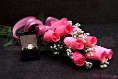 Scented Pink Ring Roses - Choose your ring size with each dozen!-Ring RosesThe Official Website of Jewelry Candles - Find Jewelry In Candles!
