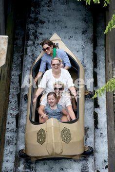 29 July 2013 Crown Princess Mary with Princess Isabella and Princess Josephine at Legoland Denmark