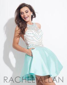 Rachel Allan 4044 Mint Homecoming Dress