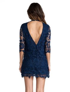 Low v indigo lace