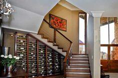 wine storage under staircase
