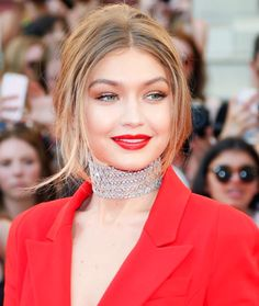 Gigi Hadid red lips