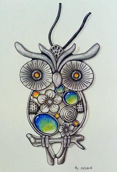 Kettenanhänger Eule - Necklace pendant owl