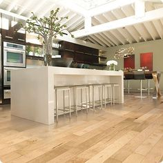 Order Mohawk Flooring Engineered Hardwood - Randhurst Maple Collection Pure Maple Natural / delivered right to your door. Maple Hardwood Floors, Engineered Hardwood Flooring, Tile Flooring, Flooring Ideas, Mohawk Flooring, Cuisines Design, Modern Kitchen Design, Decoration, Luxury Kitchens