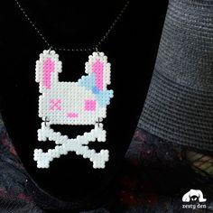 Dead Bunny Pastel Goth Cute Necklace by zestyden