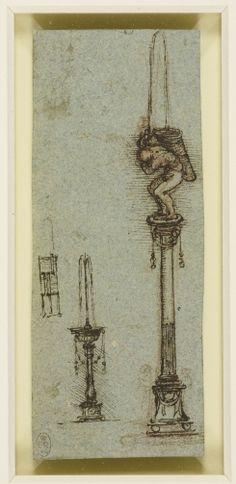 Leonardo da Vinci (Vinci 1452-Amboise 1519) - Designs for a 'Heron's Fountain'