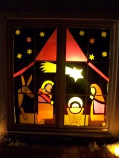 Basteln and ebay on pinterest - Adventsfenster gestalten ideen ...