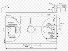 Basketball Court Lines Amp Markings Hooptactics Basketball - Basketball Fiba Dimensions Metric, HD Png - PngFind Fiba Basketball, Basketball Backboard, Street Basketball, Backyard Sports, Backyard Basketball, Basketball Court Measurements, Thesis, Steel Frame, Pretty Outfits