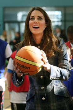 Pin for Later: Kate Middleton's Not Too Princessy to Play Sports Basketball