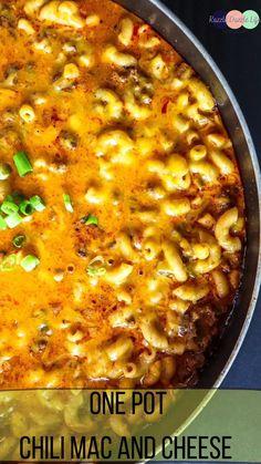 Chili Recipes, Pork Recipes, Pasta Recipes, Chicken Recipes, Chili Mac Recipe, Dinner Recipes, Chili Mac And Cheese, Macaroni And Cheese