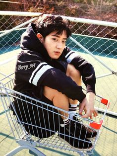 """""""What are you trying to buy? """"Chanyeol asked her. """"Just some drinks! """"She replied. """"How about this one on the cart? """"He step inside the cart, sat down and smile at her!"""