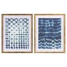Framed Pattern Abstract Blue 24