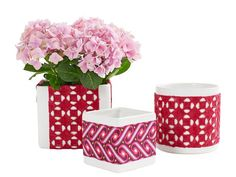 Fabric-Wrapped Vases - DIY Decoupage Crafts on HGTV