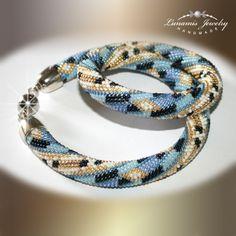 necklace, beadcrochet, toho, handmade, jewelry, bead