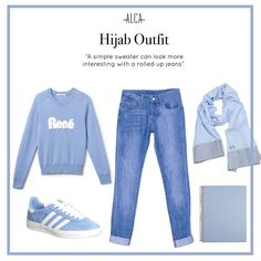 Sometimes sweater and jeans can feel a little uninspired. But try to spice things up by simply rolling your jeans up! Ootd Hijab, Hijab Outfit, Hijab Fashion, Women's Fashion, Rolled Up Jeans, Hijab Styles, Sweaters And Jeans, Mix N Match, Clothing Ideas