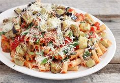 Ziti with Roasted Eggplant and Ricotta Cheese