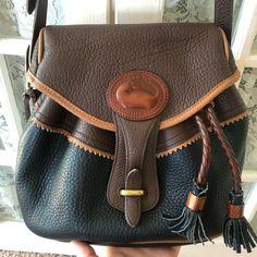 Dooney & Bourke Bags | Vtg Dooney Bourke Teton Drawstring Saddle Bag | Poshmark Unique Bags, Dooney Bourke, Saddle Bags, Leather Backpack, Black And Brown, Love, Fashion, Amor, Moda