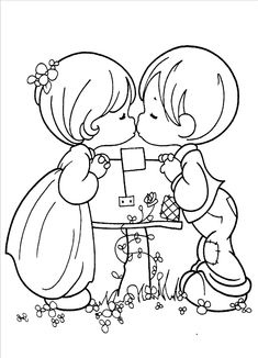 Precious Moments Coloring Pages Images