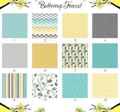 Crib Sheet  Chevron Yellow Gray Aqua Stripe   by ButtercupForrest, $42.50
