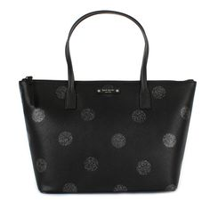 ee4191dee6a804 Kate Spade Hani Haven Lane Black Glitter Small Tote
