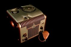 Webster Chicago 81-1 Wire Recorder. NFSA Australia. Looks like the Chrysler Building. Circa 1951