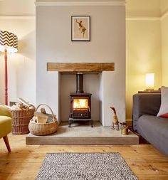 Polished concrete hearth. http://www.warringtonandrose.co.uk/ More