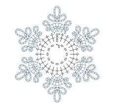 Čitanje šeme za heklanje-pahulje - Her Crochet Crochet Snowflake Pattern, Crochet Stars, Christmas Crochet Patterns, Crochet Snowflakes, Christmas Knitting, Thread Crochet, Easy Crochet Patterns, Crochet Flowers, Crochet Christmas Decorations