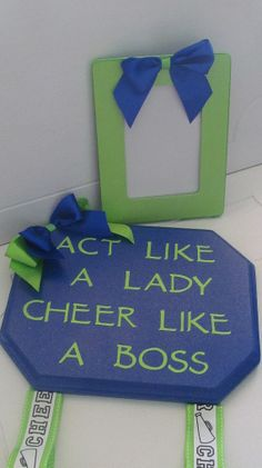 CHeer bow holder and picture frame by GeminiMade on Etsy, $43.00