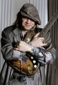 Stevie Ray Vaughan - Stephen Stevie Ray Vaughan was an American guitarist, singer-songwriter, and record producer. Often referred to by his initial SRV, Vaughan is best known as a founding member and leader of Stevie Ray Vaughan and Double Trouble. Famous Musicians, Stevie Ray Vaughan, Extraordinary People, Blues Rock, Double Trouble, Record Producer, Rock And Roll, Actors & Actresses, Singer