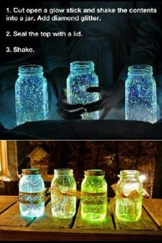 Glow Jar | 19 DIY Movie Night Ideas for Teens that will get the party started!