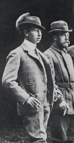 "Tsar Nicholas ll of Russia with his cousin,Prince Alfred of Saxe-Coburg-Gotha. ""AL"""