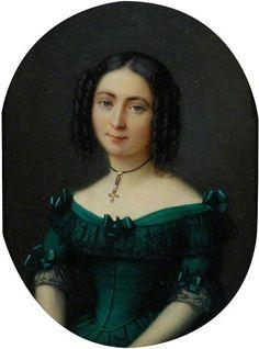 Anna Antoinette,The Eldest Sister Of Mrs. Bowes - Jacques-Eugene Feyen   c.1850's
