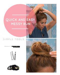 Quick + Easy Messy Bun