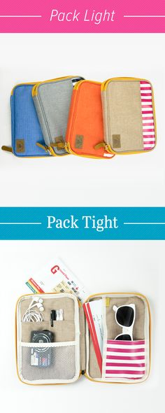 Travel tips? Pack light and pack tight! How and what you pack makes all the difference on a trip. Make sure you have the right accessories like this adorable Better Together Sailor Pattern Pouch! It's