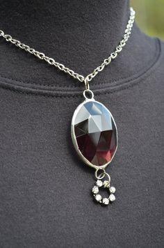 Stained Glass Jewelry Purple Amethyst Prism Gem by BayouGlassArts, $38.00