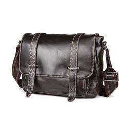 Vintage genuine leather messenger bag genuine leather shoulder bag Cow leather school bag for book ipad Cow Leather, Cowhide Leather, Leather Bags, Leather Handbags, Leather School Bag, Messenger Bag Men, Casual Bags, Large Bags, Leather Shoulder Bag