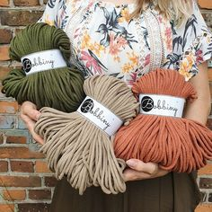 We're so proud of the new collection 💚💛🧡 Which one's your favourite? Avocado, Sand or Terracotta? Terracotta, Your Favorite, Winter Hats, Cords, Knitting, Crochet, Photo Ideas, Avocado, Cotton