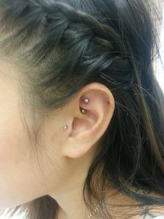 My newest peircing in my ear rook and tragus.