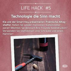 Kein Korkenzieher parat? Wir haben ein paar tolle Alltagshelfer, die Ihr Leben wesentlich leichter gestalten werden. So wie zum Beispiel unseren Smart Key. Alle weiteren Technologien unserer Fahrzeuge finden Sie hier: http://www.kia.com/at/specials/flexible-range-campaign/  #kia #smarttechnology #lifehack