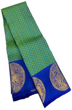 Green Handloom Kanjeevaram Pure Silk Saree