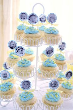 Like The Photos On Cupcakes First Birthday Cupcake Party Baby