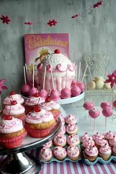 pinkalicious cupcakes, love the egg crates to hold the cupcakes!