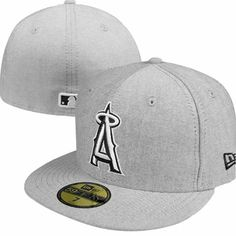 Los Angeles Angels of Anaheim New Era MLB Flip Up Tropic 59Fifty Fitted Hat  (Grey 9bd80bf8d40