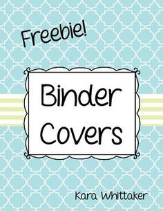 Free Teacher Binder Covers (in blue & green) to help you get and stay organized this school year!