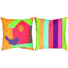 Pop Rhythm Birdhouse Outdoor Pillow 20 Square on Sale   DFOHome