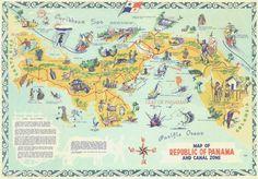 Mapa Turístico de Panamá Tourist Map of Panama www.CoolPanama.com