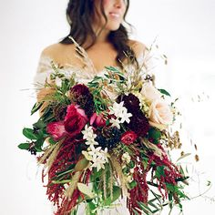 Autumn opulence in a wedding bouquet
